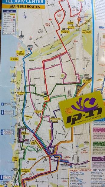 Buslinienplan von Tel Aviv auf englisch