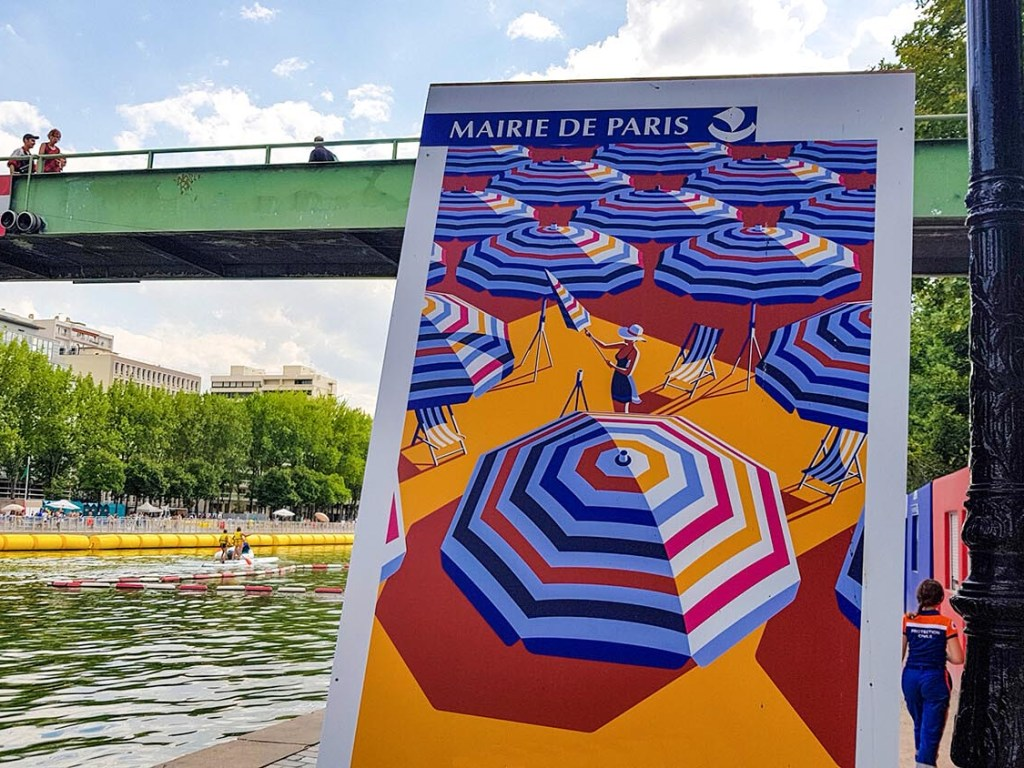 Paris Plages am Bassin de la Villette