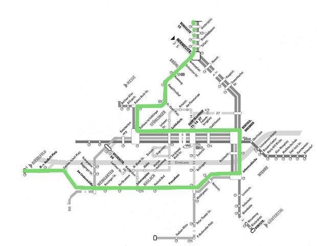 Auszug Linienplan Freiburg