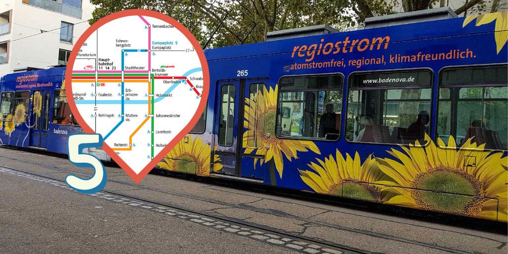5er-Linie Freiburg Tram