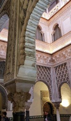 Alcazar Sevilla Andalusien, Spanien