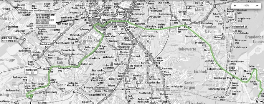 ÖPNV - Linienplan Lübeck