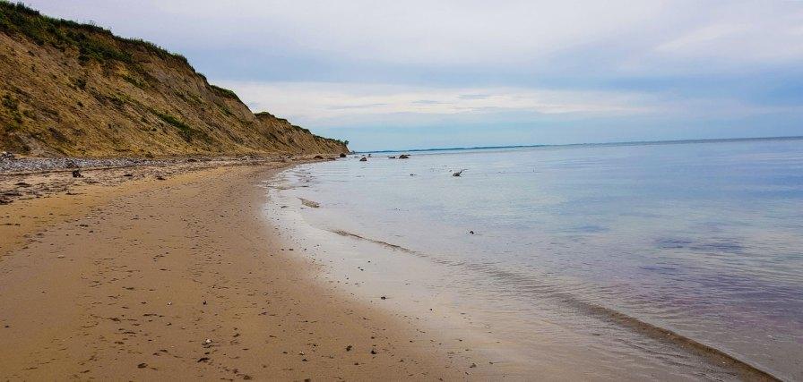 Immer am Strand entlang.