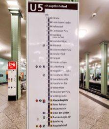 Die U-Bahnlinie U5 in Berlin