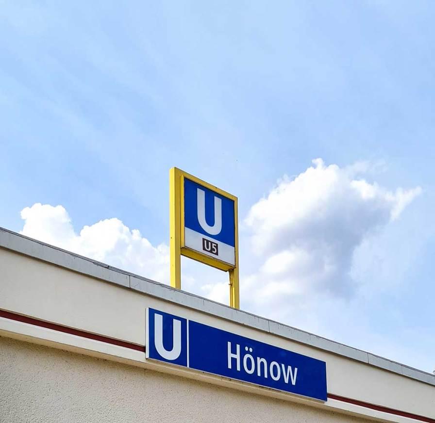 U5-Bahnhof Hönow, Endstation.