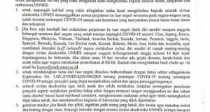Sk Rektor Kesiapsiagaan pencegahan virus covid-19