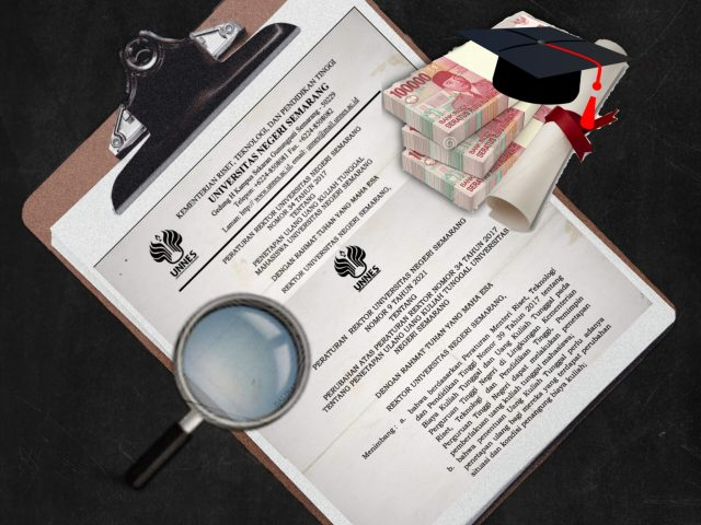 Ilustrasi Polemik Revisi Peraturan Penetapan UKT Mahasiswa Baru Unnes