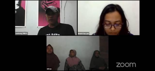 """Diskusi bertajuk """"Wadas Memanggil Jurnalis"""" yang diadakan secara daring, Selasa (24/8). [Dok BP2M]"""