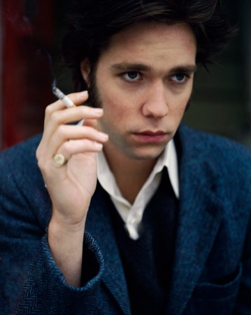 ca. 1999 --- Musician Rufus Wainwright Smoking Cigarette --- Image by © Noe DeWitt/CORBIS OUTLINE