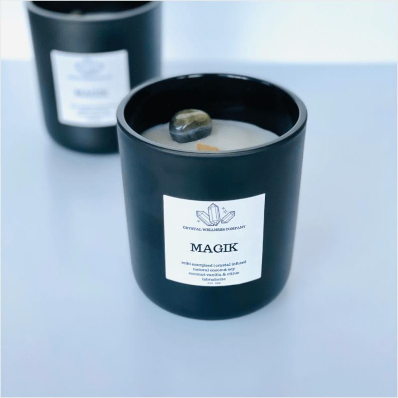 MAGIK Crystal Candle: Coconut Vanilla & Citrus Lini Skinfood