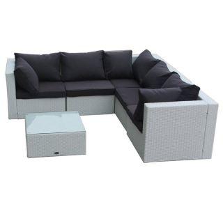 rattan wicker garden patio set havanna white outdoor lounge furniture couch