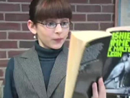 "The librarian, from The Smittens' ""Gumdrops"" video"