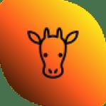 Logo Linke Wange Giraffe