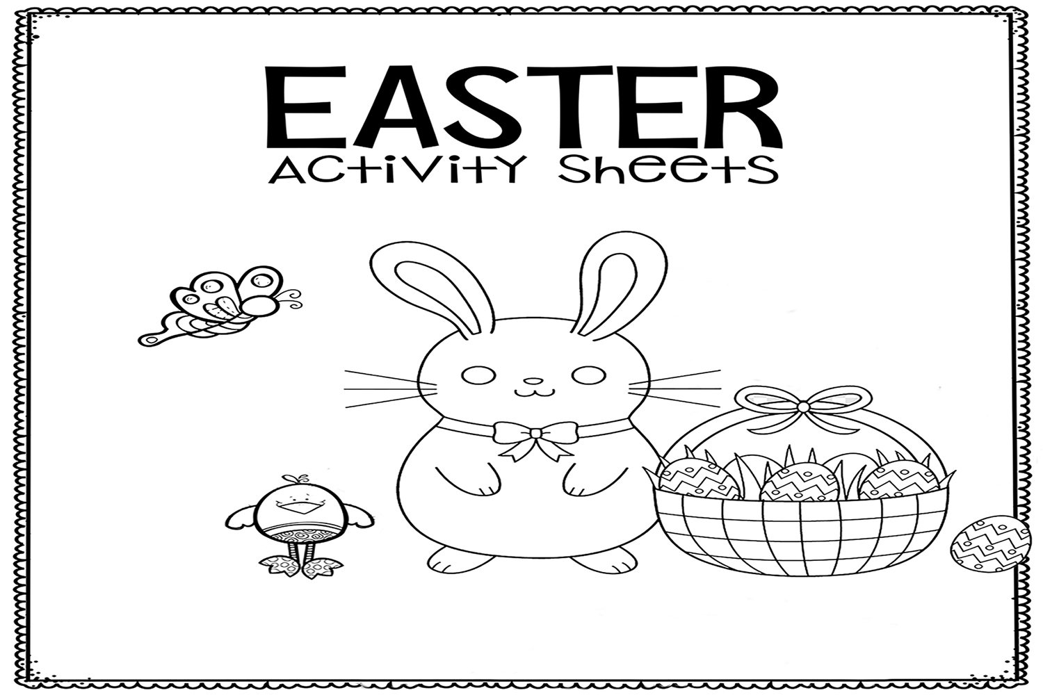 Free Printable Easter Egg Activity Sheets
