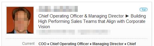 An example of a POWERFUL LinkedIn Headline