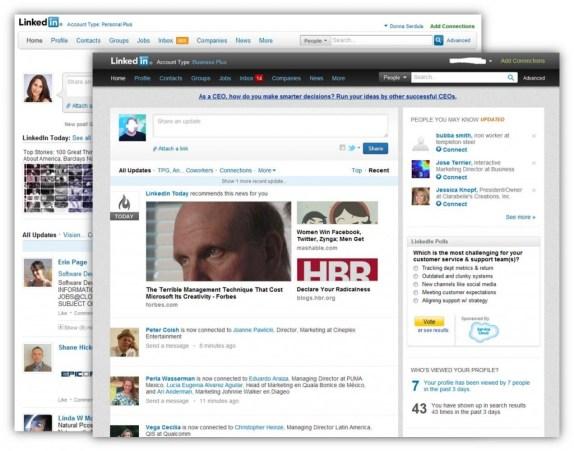 LinkedIn's New Look, Design, Interface