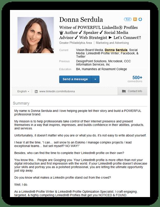 Newest LinkedIn profile page design