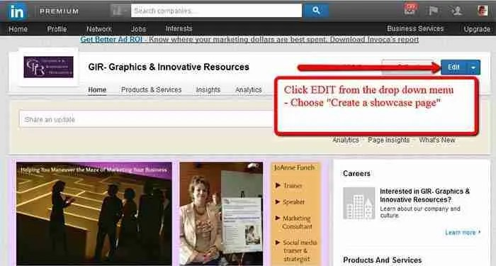 Now You Can Showcase Your LinkedIn Company Page