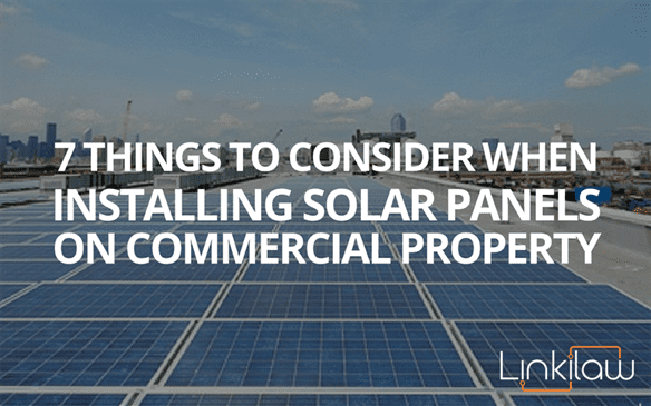 installing solar panels on commercial property