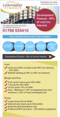 Development Finance - 90% of cost inc Interest