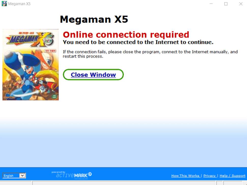 Unlocking Trygames version of Mega Man X5