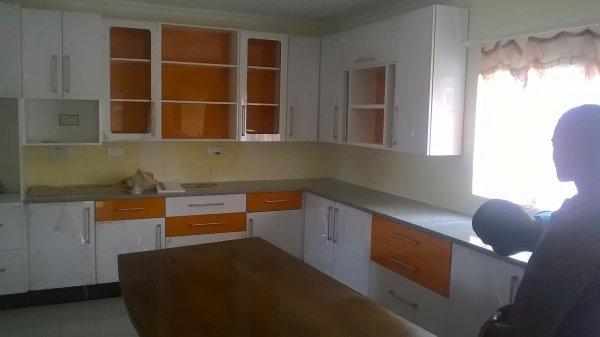 Custom Kitchen - White and Orange