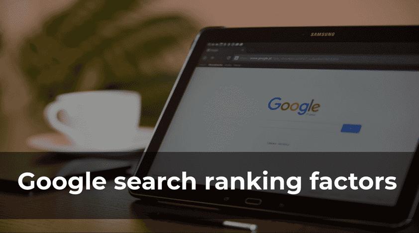 Google Ranking Factors 2018