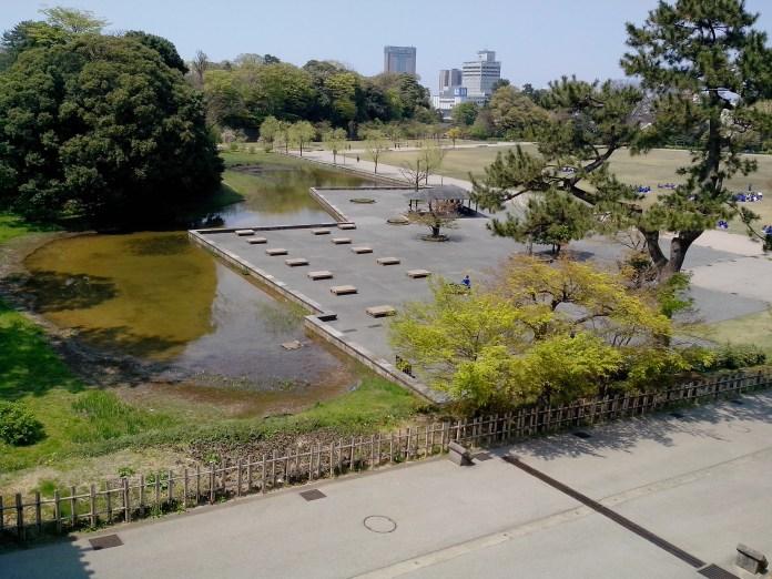 La première esplanade, avec des geeeeens