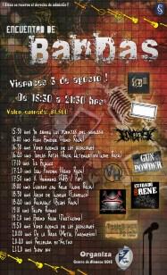 Afiche Encuentro Bandas 2012
