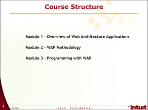 Web Architechture Application Training