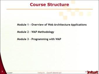 Web Architechture Application Training