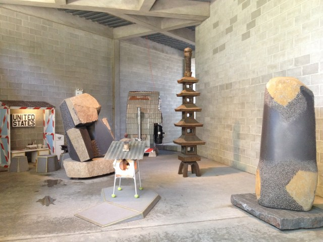 Installation shot, Tom Sachs: Tea Ceremony, Noguchi Museum