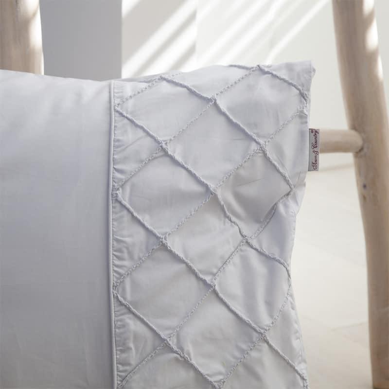 dekbedovertrek percal katoen alexis grijs kussen