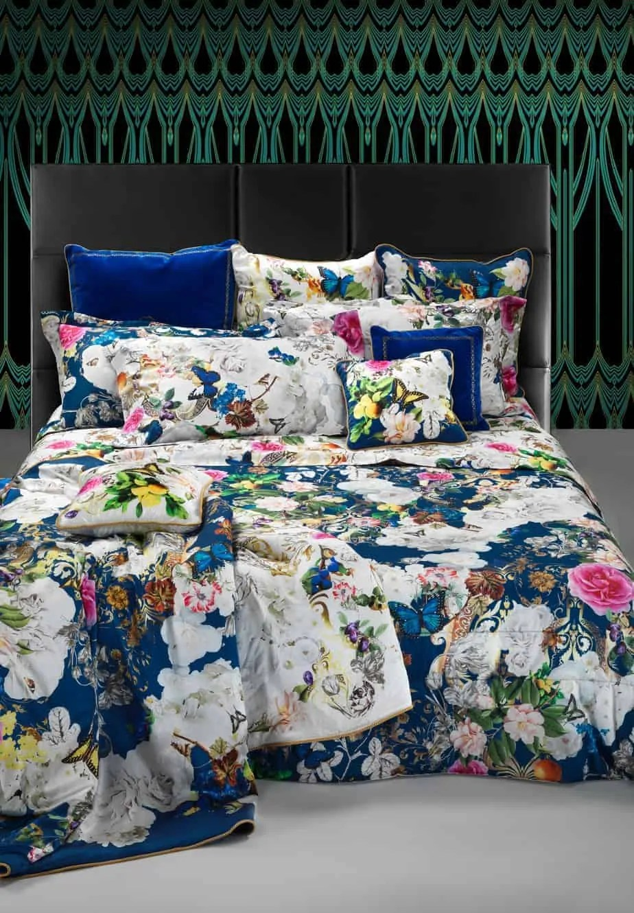 roberto cavalli bedding beddengoed dekbedovertrek blaze blue