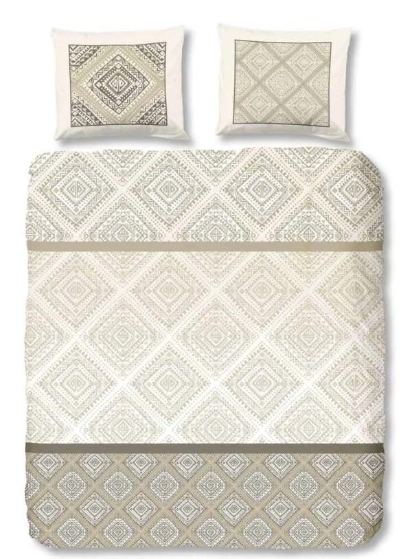 dekbedovertrek-signs-9253-ecru-strijkvrij-kreukvrij-klassiek-bruin-beige-descanso-beddengoed