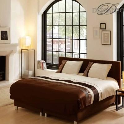 velvet dekbedovertrek in de kleuren bruin, ecru