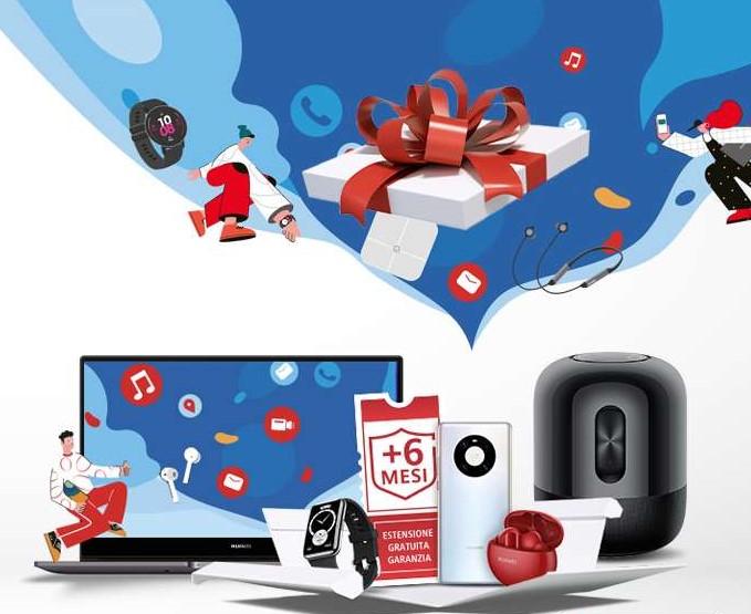 un disegno dei vari regali Huawei
