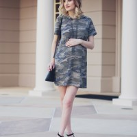 Camo Sweater Dress With Heels