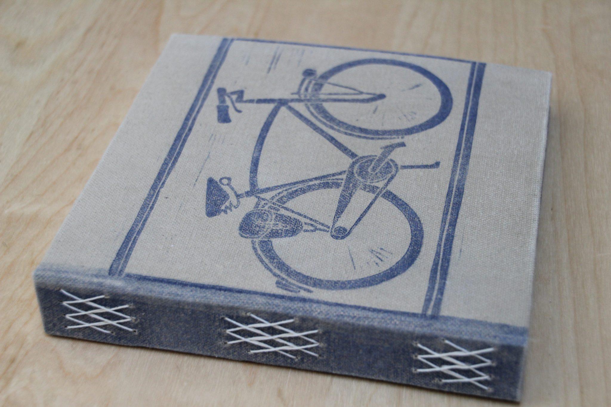 carnet vélo | LinoLino | Linogravure | Créations artisanales