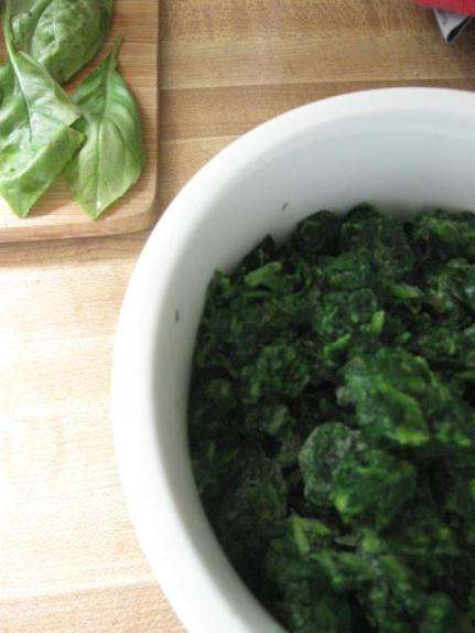 Spinach and basil.