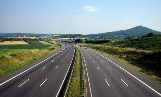 Ett ovanligt tomt Autobahn