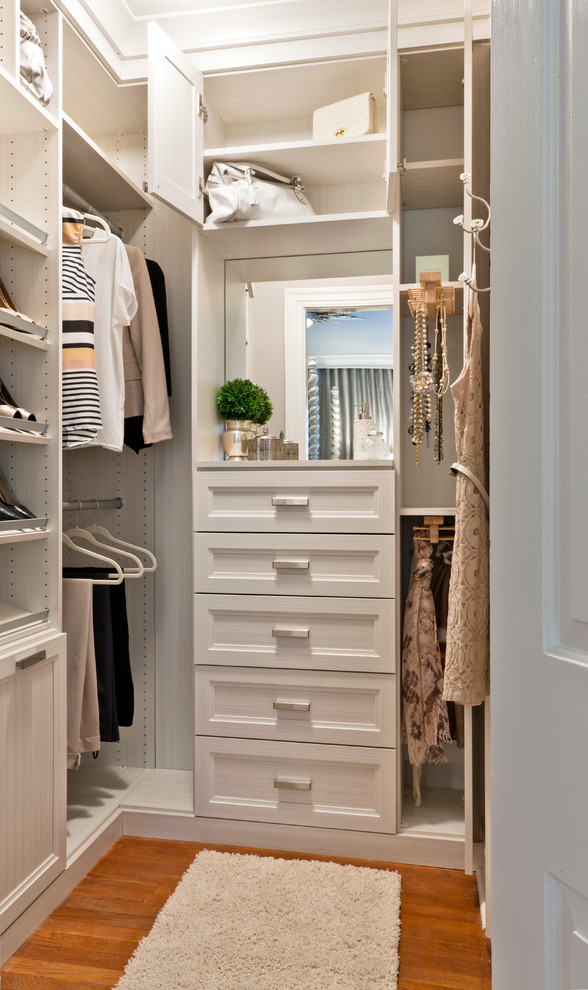small-walk-in-closet-organization-ideas-Closet-Transitional-with-accessory-storage-shoe-shelf