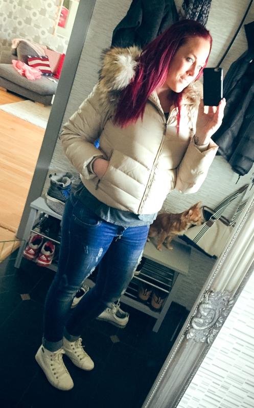 Äntligen kan jag ha min jacka på igen :-)
