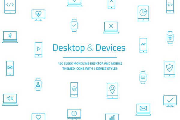 Mobile Desktop Laptop Icons