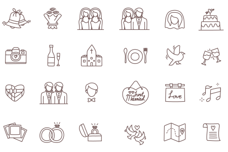 Temploola wedding icons