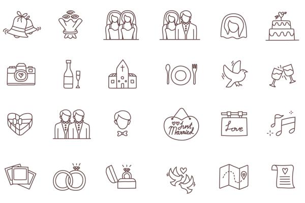 Temploola wedding icons