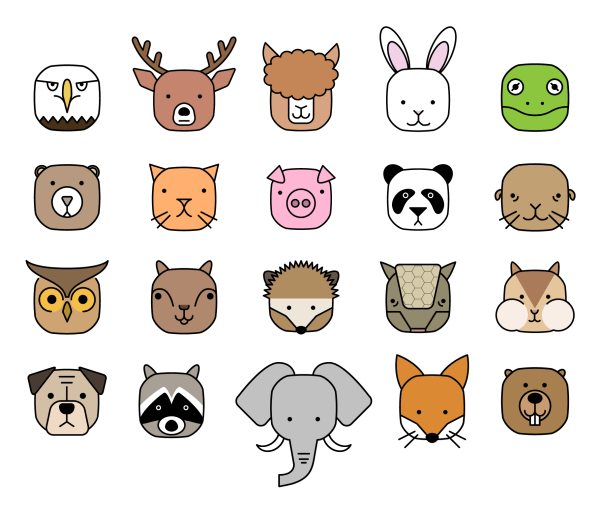 Cube Critters Animal Icons 2