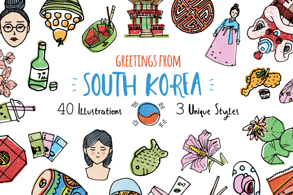 South Korea Illustrations 1
