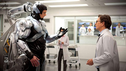 John Kinneman and Gary Oldman in RoboCop (2014)