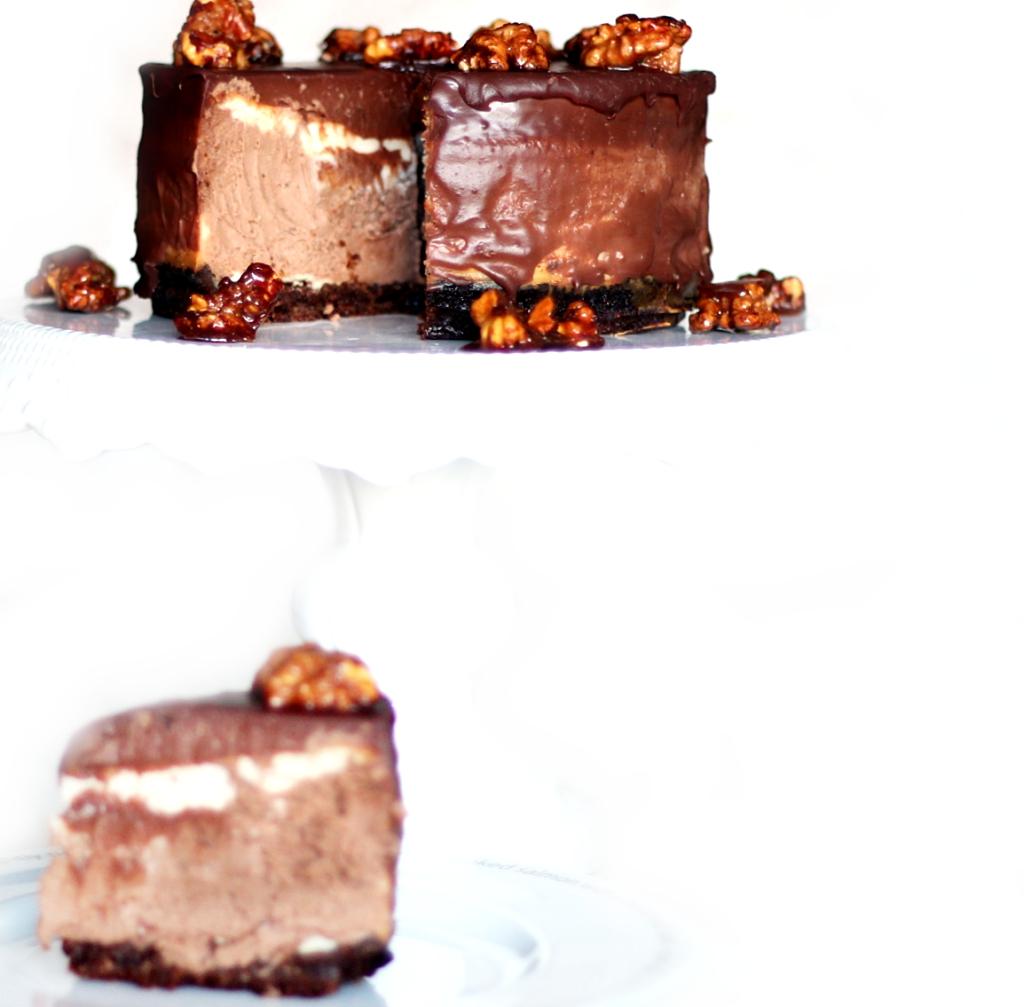 Schokolade, Schokoladentorte, Schoko Cheesecake, Cheesecake, Cheesecaketorte, Rezept, Recipe, Butterkeksboden,